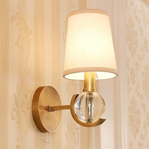 SQIAO moderne LED Wandleuchte Das Wohnzimmer Lampensockel Europa Kronleuchter Lampen Licht Restaurant bronze Lampen luxus Atmosphäre während des Messing Kronleuchter (16 * 37 cm)