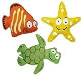 Schildkröt Funsports Kinder Tauchtiere Neopren, orange -gelb - grün, unisex, 970205,