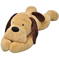 vidaXL Extra-large Puppy Dog Cuddly Toy Plush Soft Kids Children Brown 80/120/160 cm