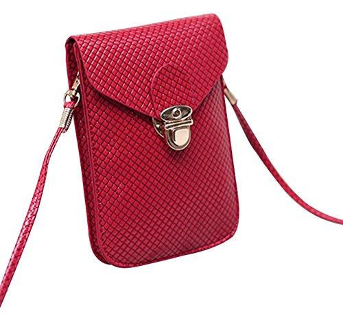 Fashion Bag, Borsa a tracolla donna rosa 7# 7#