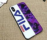 JB - Shop Coque iPhone 6 / 6S FILA Effet Militaire Violet Logo de Côté Sport...