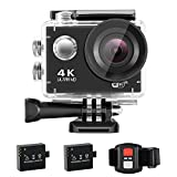 NEXGADGET 4K Action cam WiFi Ultra HD 16MP Action Kamera 170°Weitwinkel 2,0 Zoll LCD Wasserdicht...
