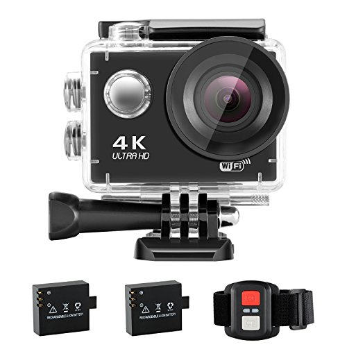 NEXGADGET Action Cam 4K WiFi Impermeabile 16MP 170 Grado Lente...