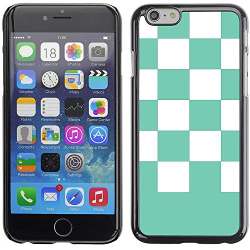 Graphic4You Kariert Muster Design Harte Hülle Case Tasche Schutzhülle für Apple iPhone 6 Plus / 6S Plus (Aqua Blau) Aqua Blau