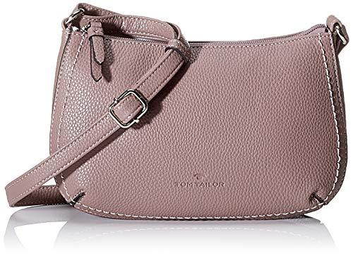 TOM TAILOR Umhängetasche Damen Sessa, Pink (Old Rosé), 24x15.5x5.5 cm, TOM TAILOR Handtaschen, Taschen für Damen, klein -