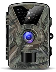 Victure IP66 Wildlife Trail Camera Trap 12MP 1080P HD Infrared Cam with Night Vision, Wide Angle, Motion Activated, 2.4''LCD Display for Outdoor Nature, Garden, Home Security Surveillance