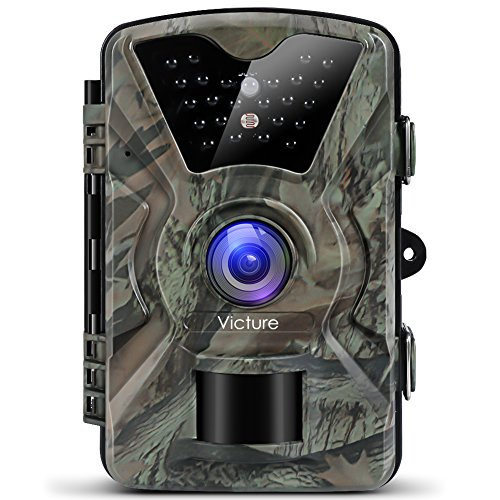 Victure IP66 Wildlife Trail Camera 12MP 1080P HD Infrared Cam with Night Vision 20m and 2.4'' LCD Display for Outdoor and Home Security Surveillance Test