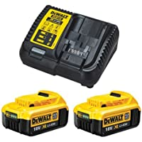 DeWalt DCB182 - Juego de 2 baterías de ion de litio de 18 V y 4