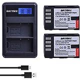Batmax Batmax 2Pcs1860mAh DMW-BLF19 BLF19 DMW-BLF19e DMW-BLF19PP Batteries + Rapid LCD Dual USB Charger for Panasonic DMW-BLF19 Lumix G9 Panasonic DMC-GH5 DMC-GH3 DMC-GH3A DMC-GH3H DMC-GH4 DMC-GH4H DC