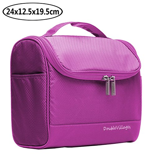 Travel Toiletry Bag Men and Women Wash Bag / Travel Accessories Storage Organizer Bag / Travel Pouch / Travel Storage Bags / Cosmetic Bags Organiser -RoseRed