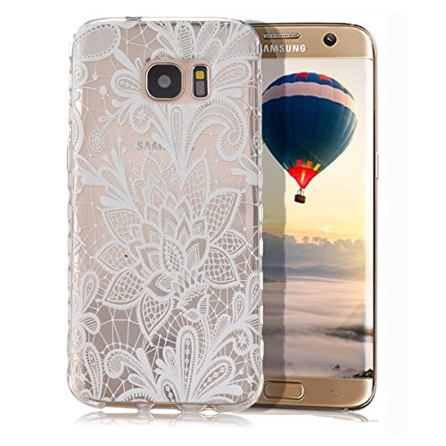 Samsung Galaxy S7 Fall, Galaxy S7 Schutzhülle, Samsung Galaxy S7 Silikon Weich TPU Fall, emaxelers Cute highed-heeled Schuh Rose Flower Pattern Soft TPU Case Cover für Galaxy S7, Ultra Thin Transparent Rose Flower Feather Serien Gummi Transparent Rahmen Weich Silikon Bumper Case Cover für Samsung Galaxy S7 mit einer Stylus Pen + 1 Tempered Glas Screen (Feather Serie)