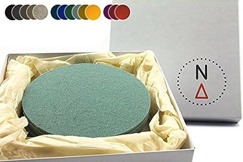 NordernArt Filzuntersetzer 6er Set rund für Gläser 100% Wollfilz, als