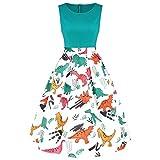 MOMOXI Vestido para Las Mujeres, Vestido de Tirantes Finos con Estampado Floral con Tirantes de Espagueti para Mujer de Summer Lady Vestidos Elegantes Largo De Elegante Vestidos Casual De Primavera