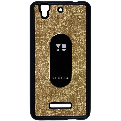 Casotec Metal Back TPU Back Case Cover for Micromax YU Yureka AQ5510 - Gold  available at amazon for Rs.119