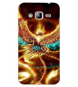 ColourCraft Flaming Eagle Design Back Case Cover for SAMSUNG GALAXY J3
