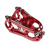 Aluminiumlegierungs-örtlich festgelegtes Zahnrad-Fahrrad-kurzer Lenkstangen-31.8 * 50 mm / 1.25 * 1.97 '' Mountainbike Ultraleichte Kurzstiel-Vorbau Fahrrad Rennrad Legierung kurz Lenkervorbau starre Nabe (Red)