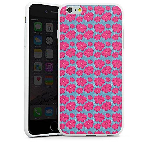 Apple iPhone X Silikon Hülle Case Schutzhülle Blumen Pink Muster Silikon Case weiß