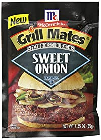 Grill Mates Steakhouse Burgers Seasoning Mix, Sweet Onion, 1.25 Ounce (Pack of 12)