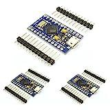 HiLetgo Entwicklungsplatine Pro Micro ATMega32U4, 5 V, 16 MHz, mit integriertem USB-Anschluss, kompatibel mit Arduino Pro Micro, serieller Anschluss mit Stiftleiste, 3 Stück