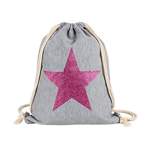 Turnbeutel – Sportbeutel – Beutel/Tasche mit Stern Aufdruck - Verschiedene