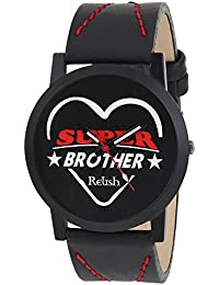RELISH RE-S8084BB Black Slim Analog Watch For Boys And Mens