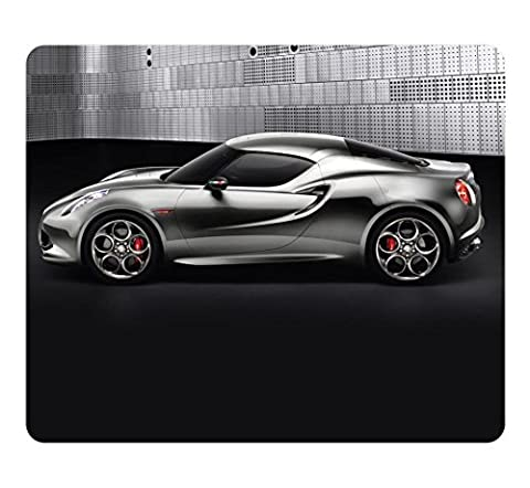 Creative Design Mouse Pad Rectangle Small Mouse Pad Alfa Romeo 4C Concept Side View Rectangle Non-Slip Mousepad Customized Oblong Gaming Mouse Pads