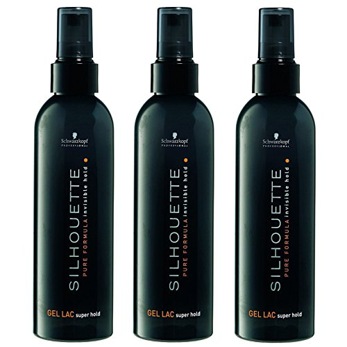 Schwarzkopf Silhouette Super Hold Gel Lac, 3er Pack (3 x 200 ml) -