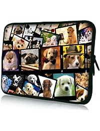 Luxburg® design housse sacoche pochette pour ordinateur portable 13,3 pouces, motif: Images des chienes
