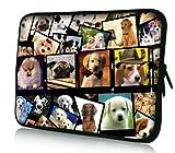Luxburg® Design Laptoptasche Notebooktasche Sleeve für 14,2 Zoll (auch in 10,2 Zoll   12,1 Zoll   13,3 Zoll   14,2 Zoll   15,6 Zoll   17,3 Zoll) , Motiv: Hundekollektion