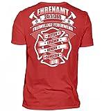 Hochwertiges Herren V-Neck Shirt - Ehrenamt 24/7/365 Freiwillige Feuerwehr - Feuerwehrmann Feuerwehrfrau Feuerwehrleute FFW 112 Geschenk