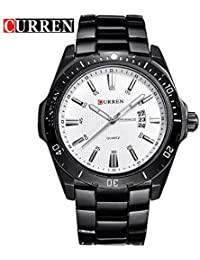 Curren Men Sports Analog Display Date Male Casual Waterproof Quartz Watch/B