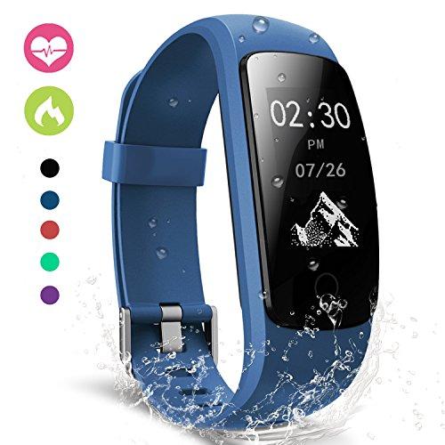 moreFit Fitness Tracker, Slim Touch Activity Tracker Orologio Cardiofrequenzimetro Impermeabile IP67 Cardio Frequenzimetro Pedometro Bluetooth Smart Watch Braccialetto Wristband da Polso Donna Uomo