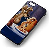 Lady and Tramp Disney for Iphone 6 and Iphone 6s Case (Black Hardplastic Case) W3O2HH