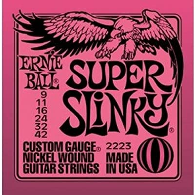 Ernie Ball Super Slinky Nickel Wound Sets.009 - .042, Bundle of 3 Sets