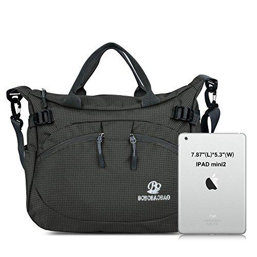 Vbiger Borse Messenger e a Tracolla in Nylon Impermeabile per Donna con PC Nero