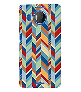 For Microsoft Lumia 950 XL :: Microsoft Lumia 950 XL Dual SIM zigzag line, multicolor line, pattern Designer Printed High Quality Smooth Matte Protective Mobile Case Back Pouch Cover by APEX
