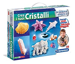 Clementoni CREA i Tuoi Cristalli Kit de experimentos - Juguetes y Kits de Ciencia para niños (Botany, Kit de experimentos, 8 año(s), Niño/niña,, 385 mm)