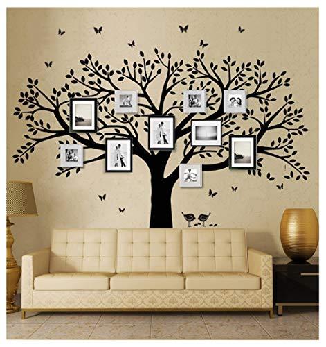 BDECOLL DIY foto del árbol de la pared, familia Árbol de Happy adhesivo decorativo para pared, diseño de mariposas y flores Vinilo Adhesivos Decor Mural de Habitación