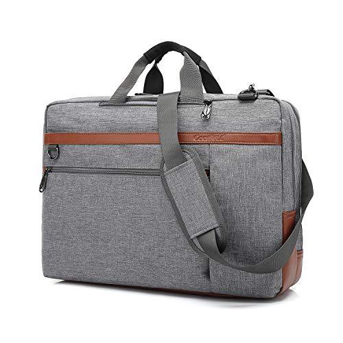 CoolBell umwandelbar Laptop Tasche Messenger Bag Herren Aktentasche Umhängetasche Multifunktionale Businesstasche Reisen Rucksack passend für 15-15,6 Zoll MacBook Notebook(Grau) -