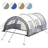 Jago Tenda da campeggio camping tenda tunnel colore grigio