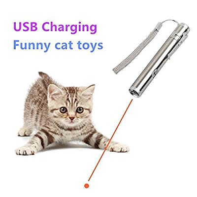 3 in 1 Multi Function Crazy Chase Cat Chaser Toys,Rechargeable LED Pet Red Dot Toys/Flashlight/Black Light Interactive Pet Toys - Exercise Toy Cat Training Tool By GILGAMESH