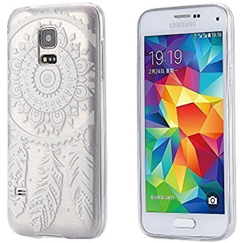 ECENCE Samsung Galaxy S5 mini FUNDA DE GEL TPU PROTECTORA CASE TRANSPARENTE CLEAR transparente Dreamcatcher 31020508