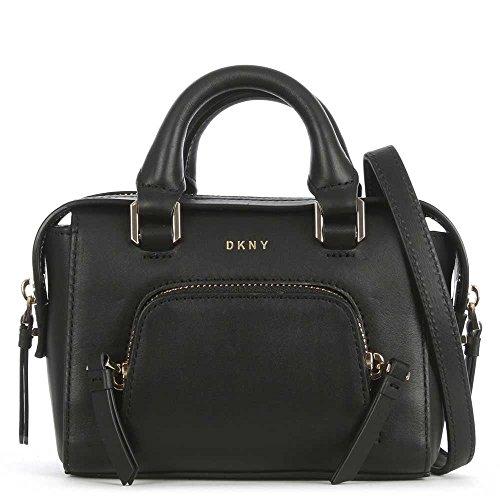 Mini Sacoche De DKNY Greenwich En Cuir Noir Black Leather