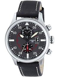 TORGOEN Swiss  T33102 - Reloj de cuarzo para hombre, con correa de cuero, color negro