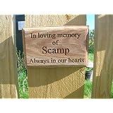 pet memorial plaque sign personalised pet memorial dog cat rabbit horse hamster pet memorial plaque