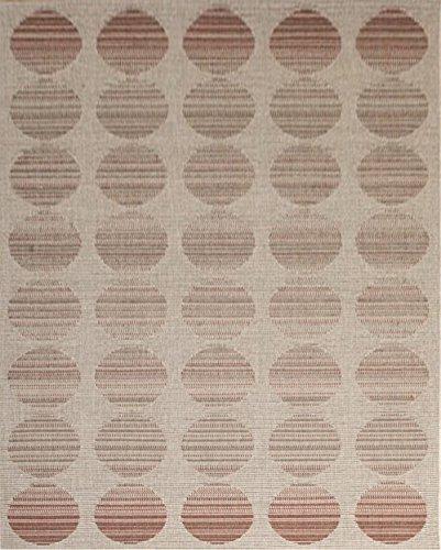 Aspect Diseño de Flores y Lunares relación de 120 x 170 cm Polipropileno Dim Interior/al Aire Libre de Lunares Alfombra, Beige