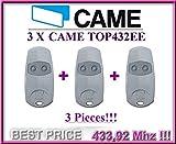 3x Came top432ee Fernbedienung/Sender, 2Kanäle, Frequenz 433,92MHz. 3Einheit-Top Qualität originelle Came Fernbedienung zum besten Preis