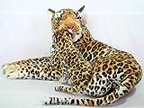 Plüschtier Leopard mit Baby - liegend - 90 cm