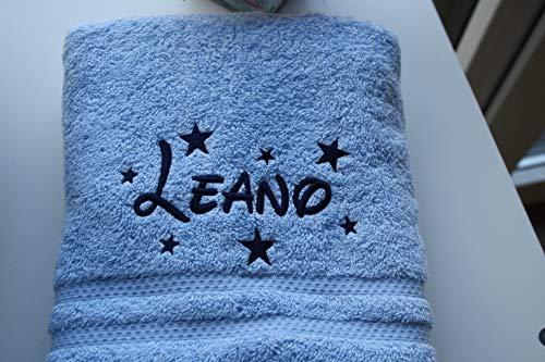 ♥ Handtuch ★ Sterne ★ mit Namen bestickt ♥