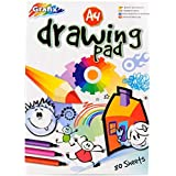 A4 Plain Drawing & Colouring Pad - 80 sheets=160 pages - Padded - Size 297mm x 210mm